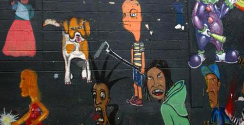 grafitti væg